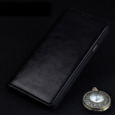 Genuine Leather Case for Bluboo Maya Flip Stand Design Phone Back Cover Wallet with Card Slot Black Brown Red Pink