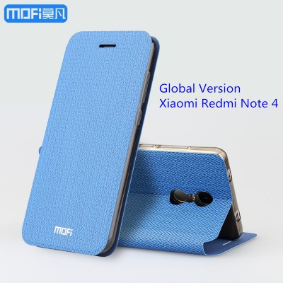 MOFi Case for Xiaomi Redmi note 4 case redmi note 4x flip case MOFi original redmi note 4x stand case capa coque funda