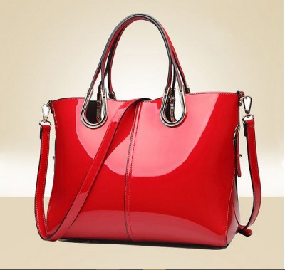 Female Top-Handle Bags Red Patent Leather Handbag Lady Large Tote Bags For Women Famous Brand Composite Bag Set Solid Bag B045