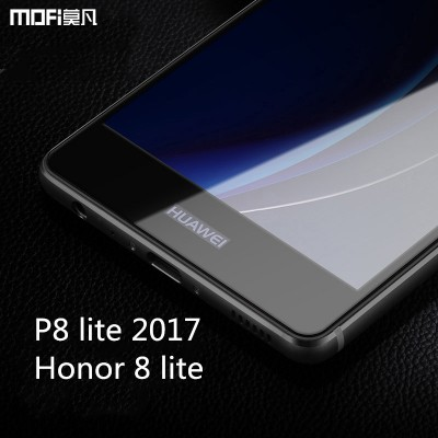 Huawei P8 lite 2017 glass P8 lite glass 2017 huawei honor 8 lite tempered glass screen protector full cover film black blue Phone Cases For huawei