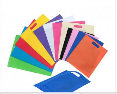 wholesale 500pcslot reusable non woven shopping bags eco-friendly gift non woven bags with customized logo printing