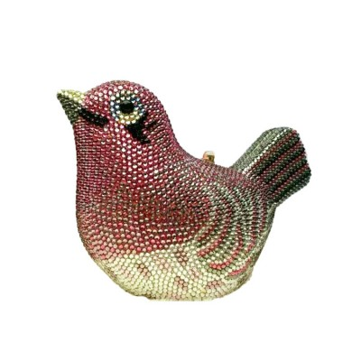 Luxury Animal Shape Bird Clutches Crystal Evening Bags and Evening Clutch and Handbags for Party Wedding Prom Bridal