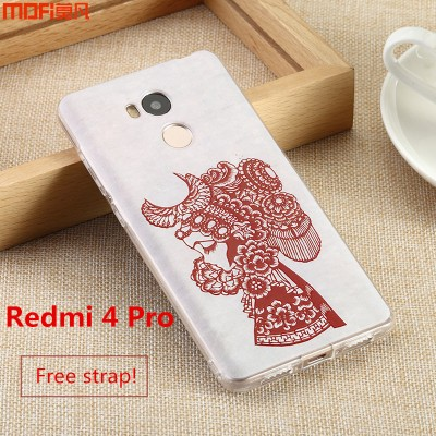 Xiaomi redmi 4 pro case cover Xiaomi Mi Redmi 4 case colorful pattern 3D relief MOFi original redmi 4 prime cover mountain 5""