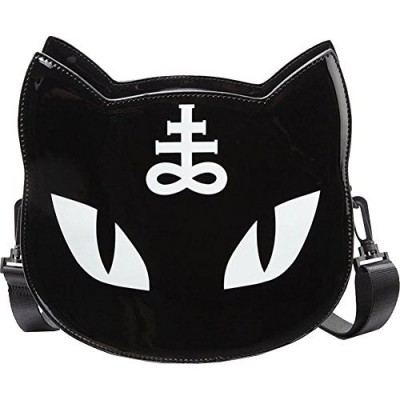 Gothic Pentagram Occult Illuminati Dark Black Punk Cat Messenger Bag Handbag Harajuku