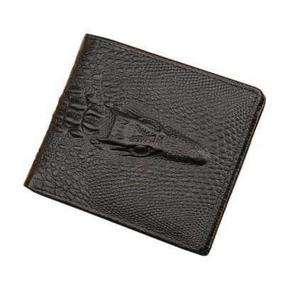 Crocodile Leather Wallet Men Wallet Male Genuine Brief Short Design Mens Wallets Cowhide wallet mens Card Holder wallets