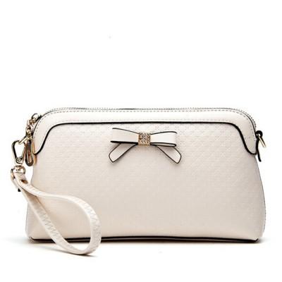 2017 New Brand Split Leather Plaid Diamonds Bow Wristlets Clutch Bag Women Fashion Designer Shoulder Messenger Bags Purse D5125
