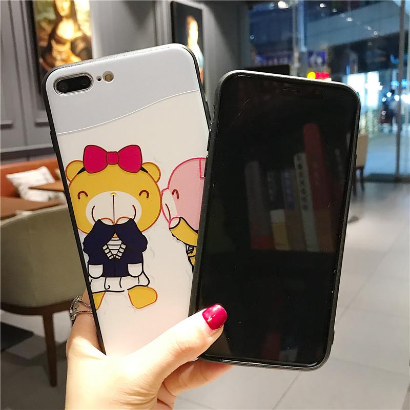 Cut Cartoon Phone Case For iphone X 6 6s 6plus 7 7plus 8 8plus Back Cover Cases Bear Personalised Designer Iphone Phone Cases