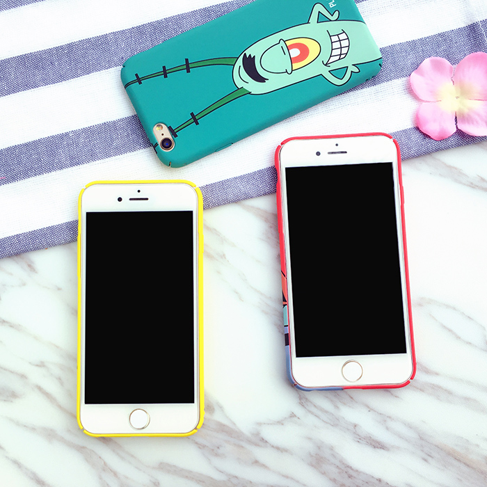 Spongebob Phone Case Spongebob Iphone 6 Case Lovely Cartoon SpongeBob Patrick Frosted PC Phone Case Cover for Apple iPhone 6 6S 6S 7 plus