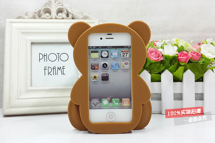 Teddy Bear Phone Case Teddy Bear Iphone 6 Case Lovely Cartoon Teddy Bear Patrick Frosted PC Phone Case Cover for iPhone 6 6S 6S 7 plus