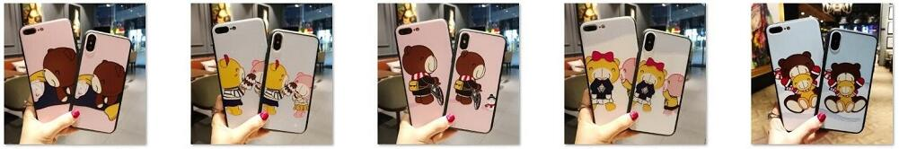 BRAND Cartoon Phone Case For iphone X For iphone 5 5s For iphone 6 6s For iphone 6plus For iphone 7 For iphone 7plus For iphone 8 For iphone 8plus,Wholesale mobile phone cases contact us: bagshercom@hotmail.com