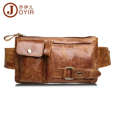Genuine Leather Waist Bag Women Men Fashion Belt Bags Male Fanny Pack Small Waist Pack Man Casual Crossbody Shoulder Bag 8135