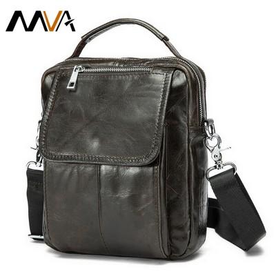 Genuine Leather Men Bag Small Shoulder Crossbody Bags Men Messenger Bags Men's Leather Bag Casual Handbags Hot Sale MVA