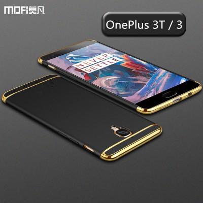 Oneplus 3T case cover black oneplus 3 case one plue 3t MOFi original back case 3 in 1 joint cover luxury capa coque funda