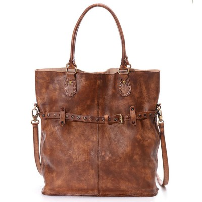 2017 Designer Women Genuine Leather Handbags Large Shoulder Bag Cowhide Ladies Tote Bags Vintage Red Casual Shopping Bag Bolsos