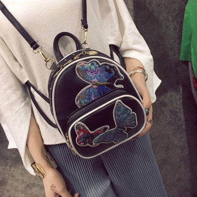 Fashion Butterfly Embroidered Shoulder Bag Female Korean multi-use mini backpack bag for students