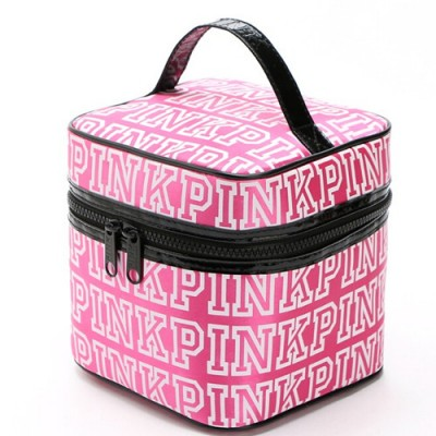 Hot 2017 New Vitoria sacos FOR women zipper light women's makeup bag VS ladies BAG womens summer PINK big cosmetic box