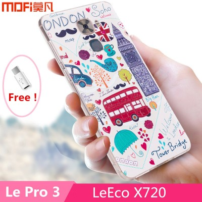 Letv le pro 3 case MOFi original leeco le pro 3 cover TPU soft back case fashion flower minions letv pro 3 X720 cartoon capa 5.5