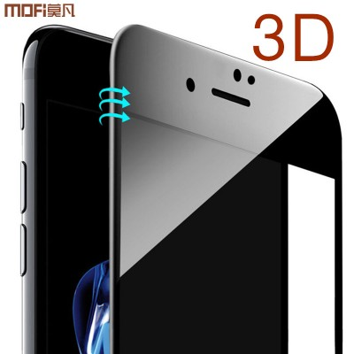 MOFI Phone Case For iphone 8 galss i8 plus tempered glass for iphone 8 plus screen protector 3D full cover curved soft edge anti glare blue ray