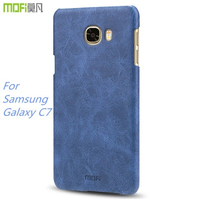 Phone Cases For Samsung For Samsung c7 case MOFi original for Samsung galaxy c7 back cover hard PU leather shell housing accessories coque capa 5.7 inch