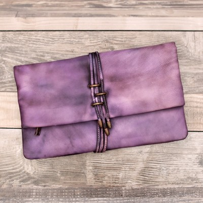 Vintage Designer Cowhide Men Women Large Wallets Tablet PC Computer Case Wristlets Genuine Cow Leather Female Clutch Purse