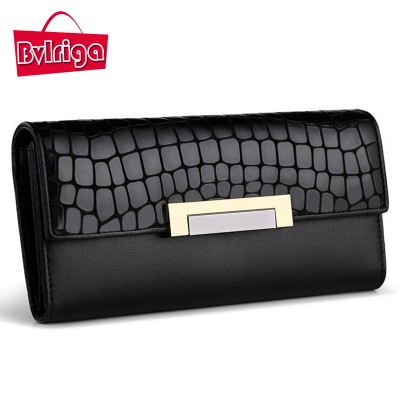 BVLRIGA Women leather wallet women luxury brand famous brand womens wallets and purses card holder dollar price coin pocket