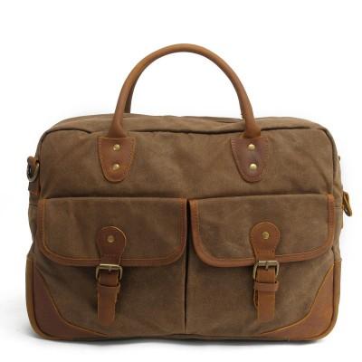 Real leather canvas man handbags tote vintage business messenger bags shoulder crossbody Laptop bag bolsa feminina brief case