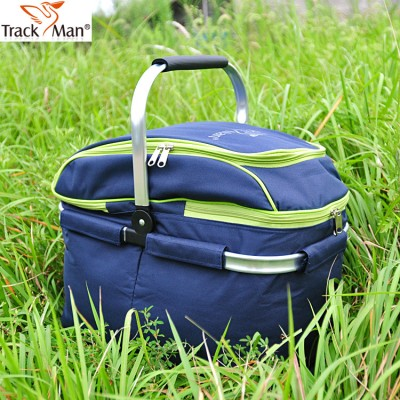 Outdoor picnic basket picnic bag ice pack insulation bag cooler box food basket, Handheld basket foldable picnic basket
