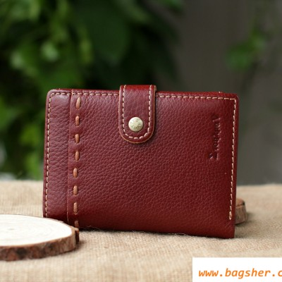 front of Brown leather man wallet