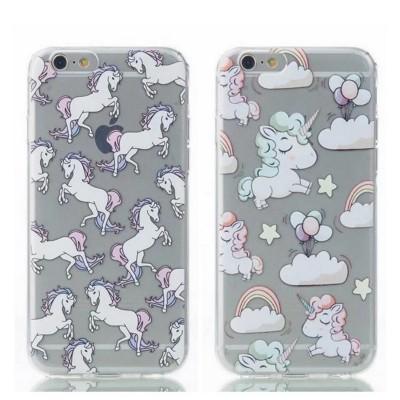 cartoon phone cases New Transparent Softphone Case For Apple iphone 6s case Cute Ma Unicorn Cartoon Pattern For iphone 6 6s 7 plus case cover cartoon cases