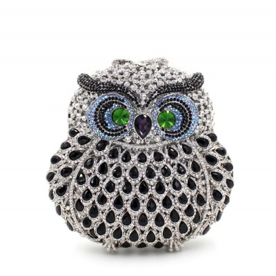 Animal braccialini Owl women evening bags pochette handmade prom Clutch evening bags Luxury party bags lady crystal clutch bags