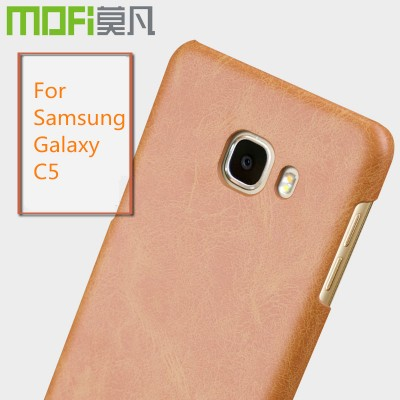 Phone Cases For Samsung For Samsung C5 case MOFi original for Samsung c5 2016 case hard PU leather back cover for samsung c5000 galaxy c5 coque capa 5.2