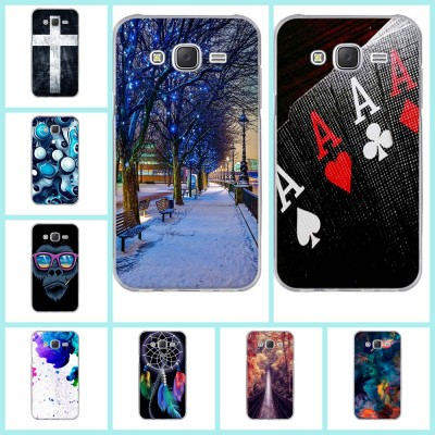 Fashion Cut Painted Pattern TPU Silicone Soft For Samsung Galaxy J5 Case For Samsung Galaxy J5 2015 J500 Cell Phone Back Cover Case