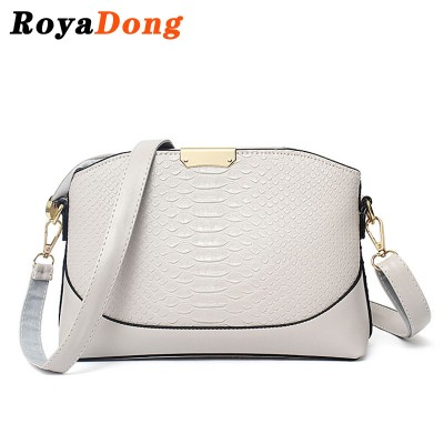 RoyaDong 2017 Women Messenger Bags Pu Leather Alligator Women's Handbags Small Shell Crossbody Bags For Women