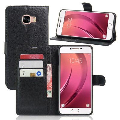 For Samsung Galaxy C7 Case Flip Cover Wallet PU Leather Cover Case for Samsung Galaxy C7 Cover Phone Case with Stand Function