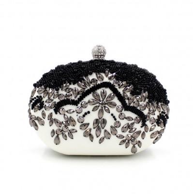 Luxurious Crystal Beading Evening Bag Women Flower Dress Clutch Bags Hard Clutch Purse Crystal Party Bag Banquet Wallet