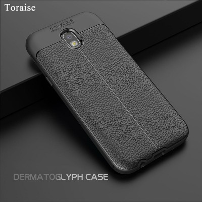 Toraise For Samsung Galaxy J3 2017 Case Litchi Pattern Soft Silicone TPU Case for Samsung Galaxy J5 2017 J530 J7 2017 J730 Phone