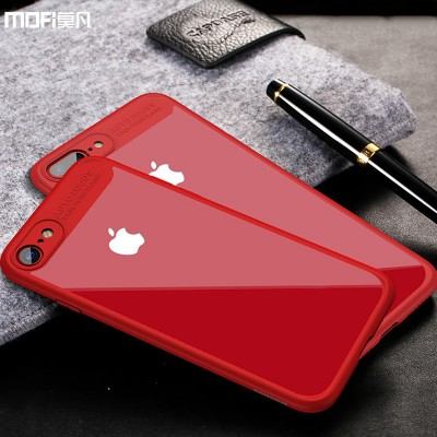 MOFI phone case For iphone 6s plus case cover for iphone 6s case for iphone 7 7 plus case transparent hard back cover soft edge frame red 6P 7P