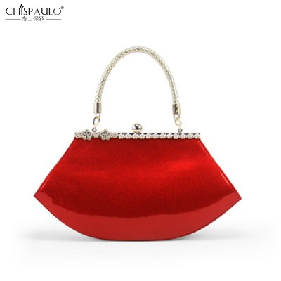 Red bride fashion bags 2017 new wave of female bag ladies patent leather handbag shoulder bags marriage package