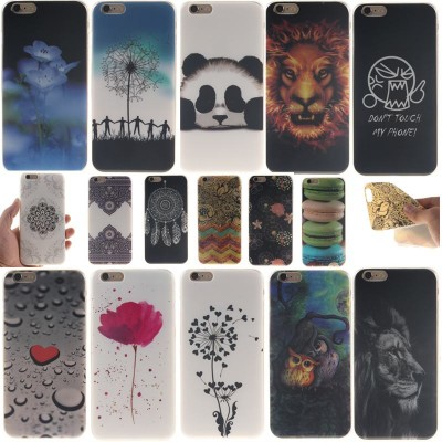 cartoon phone cases For Fundas iPhone 6 Silicone Case Coque iPhone 6 6s Case Silicone Cute Cartoon For iPhone 6s Cover Panda Lion Animals Anime Capa cartoon cases