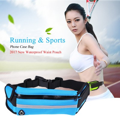 Waterproof Cell Phone Pouch Sport Running Waist Pack Waterproof Belt Pouch Mobile Cell Phone Case Cover Bag for Multi Smartphone Model Below 6 inch