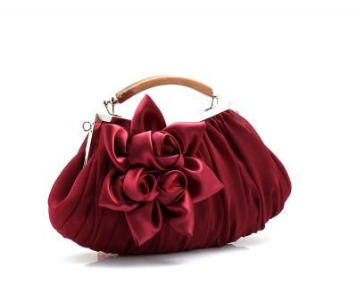 Rushed New Solid Bag Mini Single Hasp Wristlets Women Floral Day Clutch Handbags Bag Diamond Satin Flower Evening Tote Bag