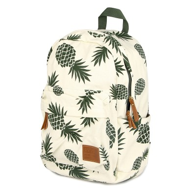 2017 fresh style women backpack canvas bakcpacks for teenage girls pineapple printing bag pack casual travel mochila 174zs