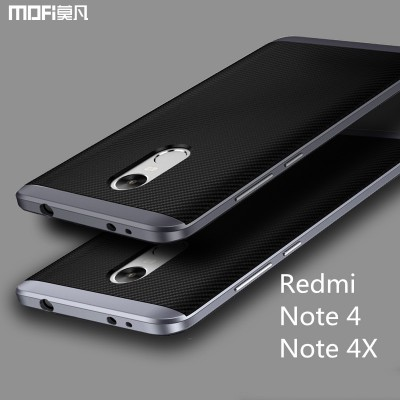 Xiaomi redmi note 4X case cover redmi note 4 case MOFi back case note4x capa coque funda 2 in 1 joint TPU soft case PC frame 5.5