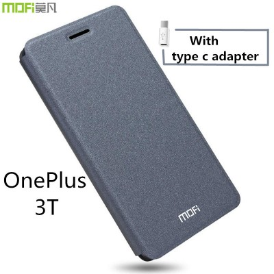 Oneplus 3T case flip case oneplus 3t cover MOFi original oneplus A3010 leather case full cover capa cuque funda gray 5.5 inch