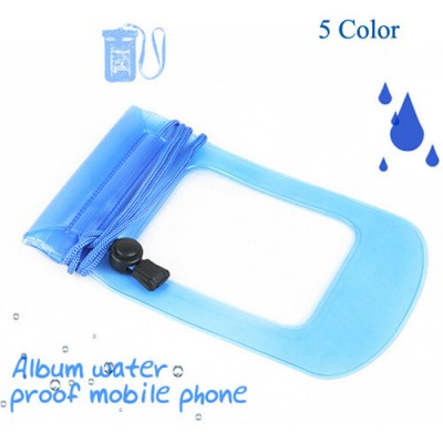 100pcs/lot Clear Waterproof Pouch Bag Dry Case Cover For All Cell Phone Camera Mobile phone waterproof bag