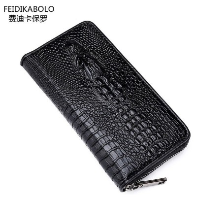 FD BOLO Brand Wallet Men Leather Wallets Aligator Handy Bags Coin Purse Monederos Carteras Hombre Mens Wallets Man Clutch Bags