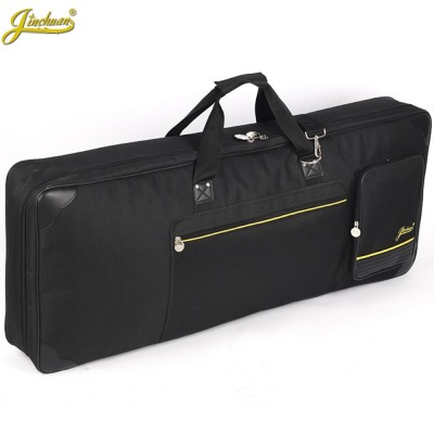Good quality professional Portable waterproof 61 key keyboard electric organ piano package padded bag soft cases gig cover black