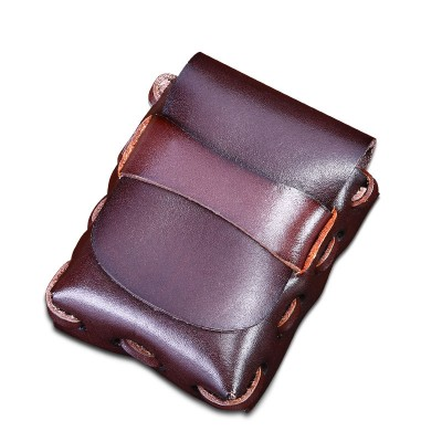 Leather Fanny Pack Small Vintage Men Genuine Leather Cowhide Cigarette Belt Bag Casual Fanny Bag Handmade Gifts Waist Pack