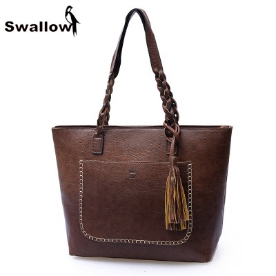 Women Vintage Bags Retro PU Leather Tote Bag For Girls Large China Handbags Women Tassel Casual Hand Bag Shoulder Sac Femmel