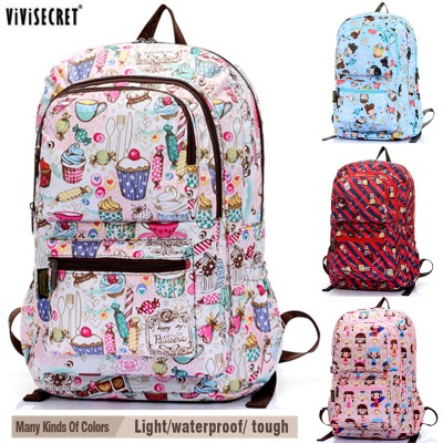 Women Waterproof 15 Laptop Computer Backpack School Bag Travel Satchel Bag Cute